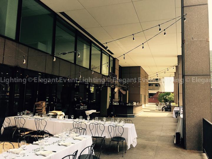 Wedding River Cafe Cafe Globe Lighting | Rivers