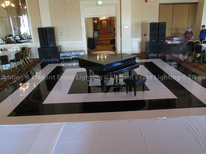 Black & White Wedding Dance Floor | The Pfister Hotel