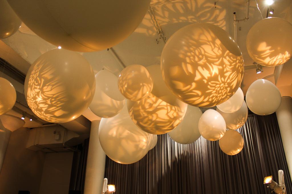 Elegant_Event_Lighting_Chicago_Chez_Wedding_Giant_Balloons_Pattern_Lighting