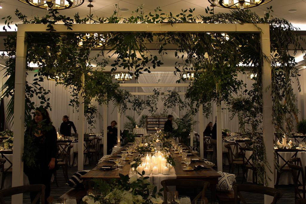 Elegant_Event_Lighting_Chicago_Edgewater_Wisconsin_Wedding_Greenery_Reception_Candles_White_Draping