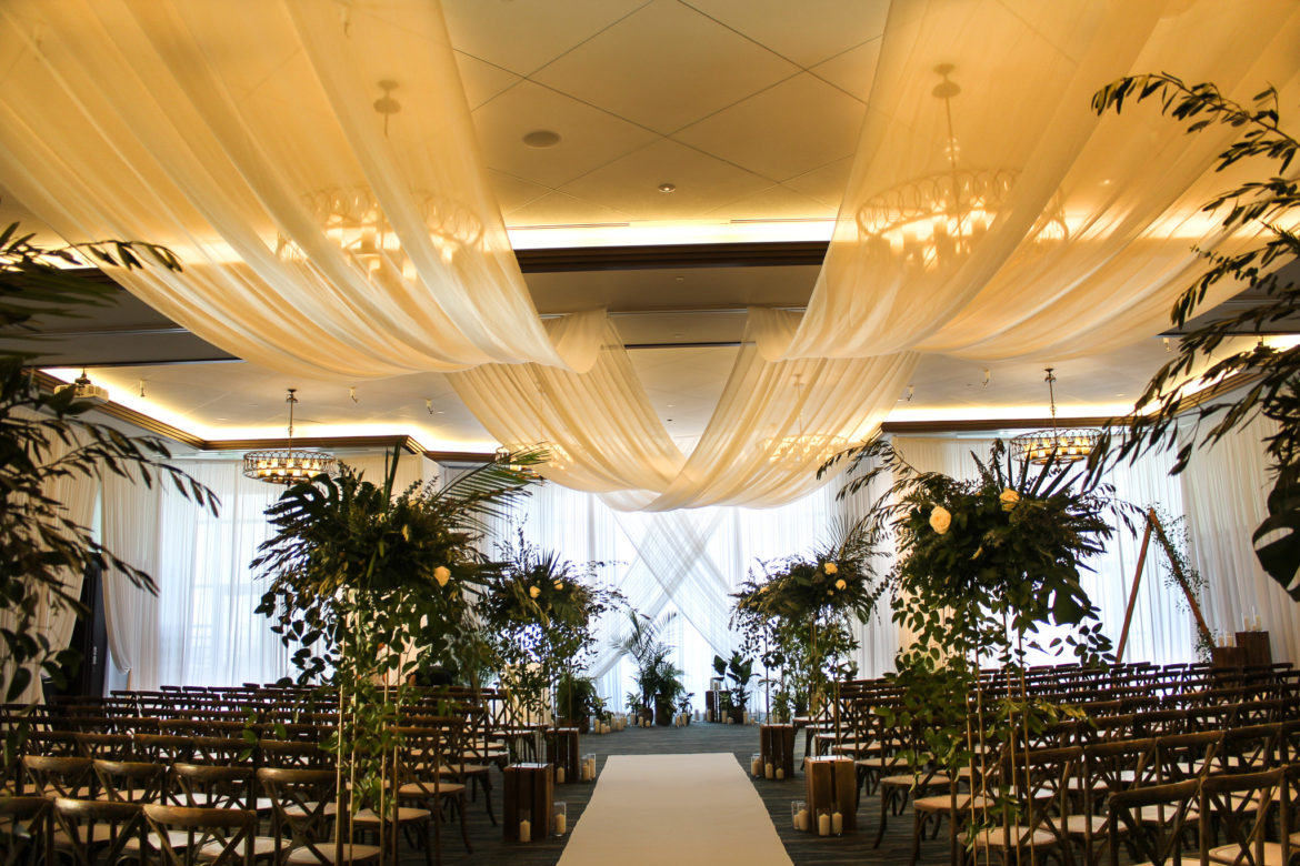 Elegant_Event_Lighting_Chicago_Edgewater_Wisconsin_Wedding_White_Ceiling_Draping_Ceremony_Drapes