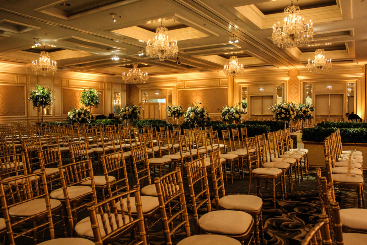 Elegant_Event_Lighting_Chicago_Four_Seasons_Wedding_Amber_LED_Uplighting_Flower_Lighting