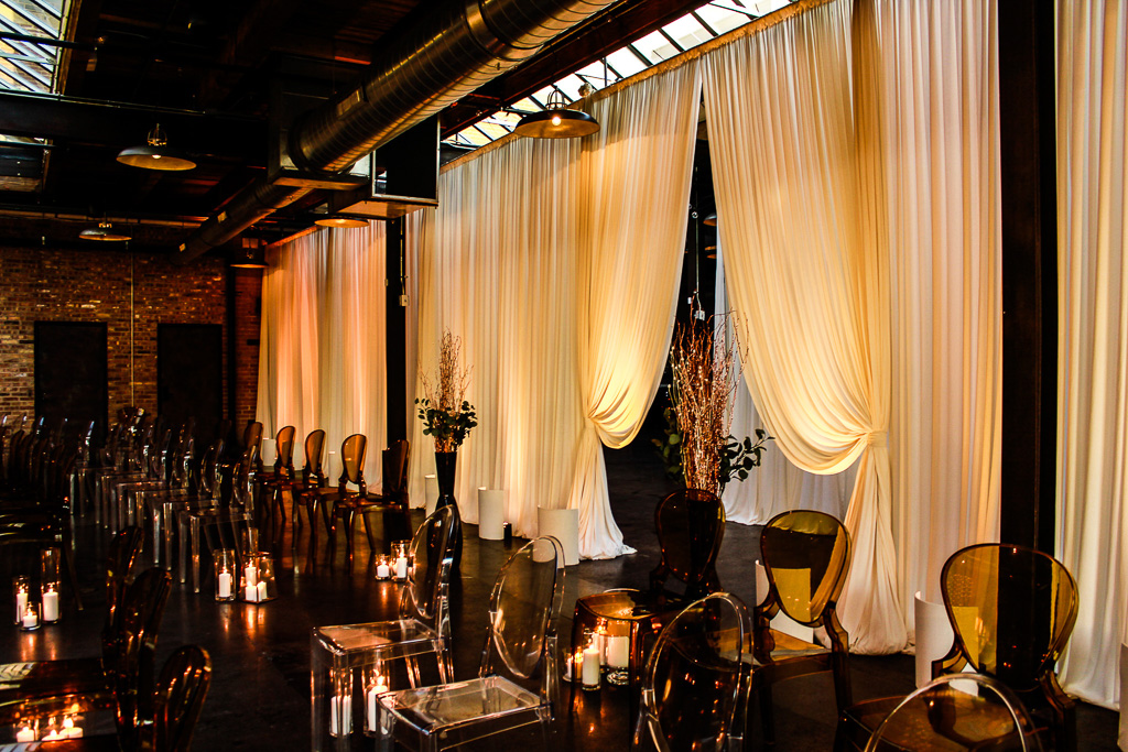 Elegant_Event_Lighting_Chicago_Morgan_Manufacturing_Wedding_Ceremony_Separtaion_Drape_Ivory_Amber_Romantic