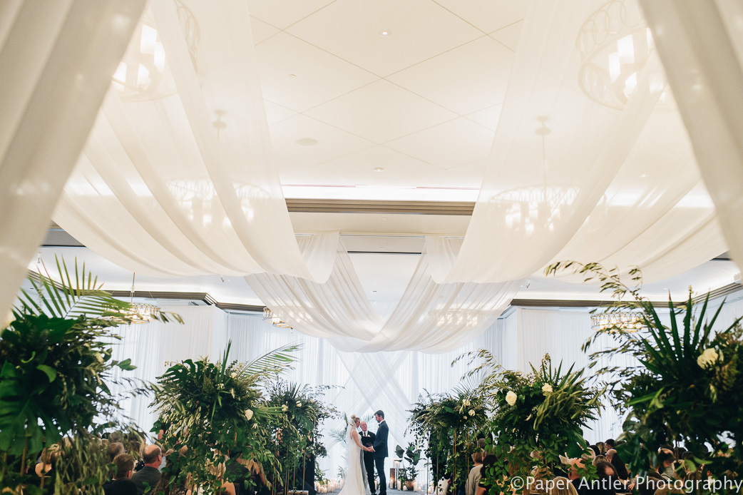Elegant_Event_Lighting_Edgewater_Hotel_Wisconsin_Wedding_Ceiling_Draping_White_Room_Draping