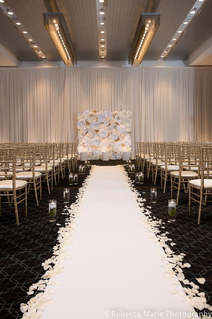 Elegant_Event_Lighting_Hotel_Arista_Naperville_Chicago_Wedding_Flower_Wall_Aisle_Runner_Draping_Ivory