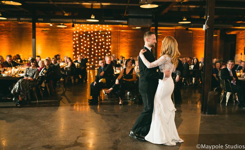 Elegant_Event_Lighting_Morgan_Manufacturing_Chicago_Wedding_First_Dance_Amber_Uplighting_Vertical_Cafe_Lighting