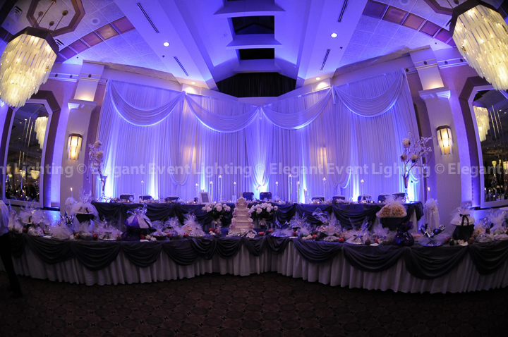 Purple Wedding Headtable Backdrop