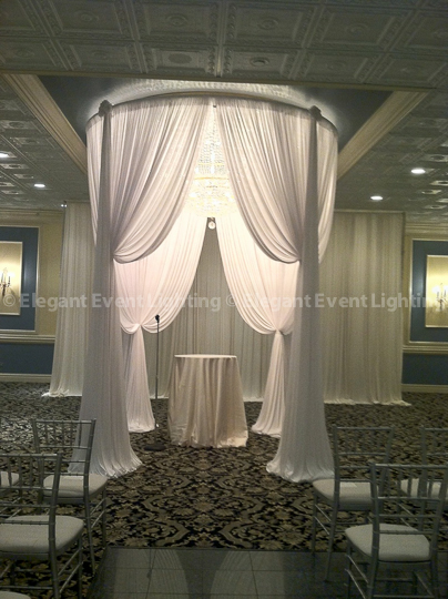 Sheer White Round Chuppah