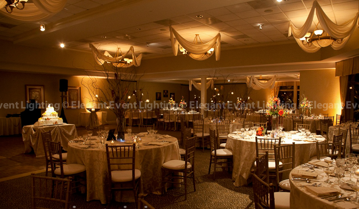 Country Club Wedding Uplighting