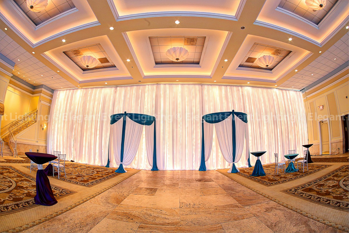 Fairy Light Drape Wall Signature Double Starburst Ceiling Canopy | Grand Ballroom - Venuti's