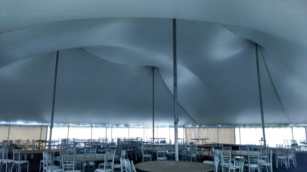 Wedding Tent Before Draping | Riverside Golf Club