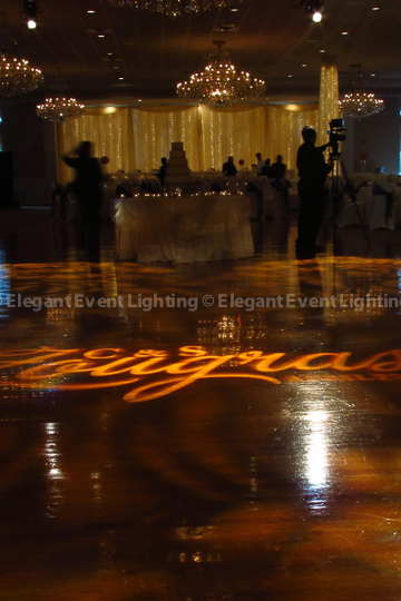 Dance Floor Monogram & Pattern Lighting | Abbington Distinctive Banquets