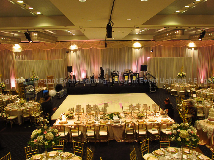 Hotel Arista Backdrop and Uplighting