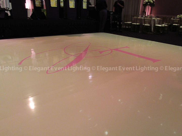 Hotel Arista Ivory Dance Floor and Custom Monogram