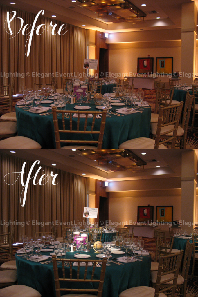 Before & After Pin Spots - Chicago Marriott O'Hare