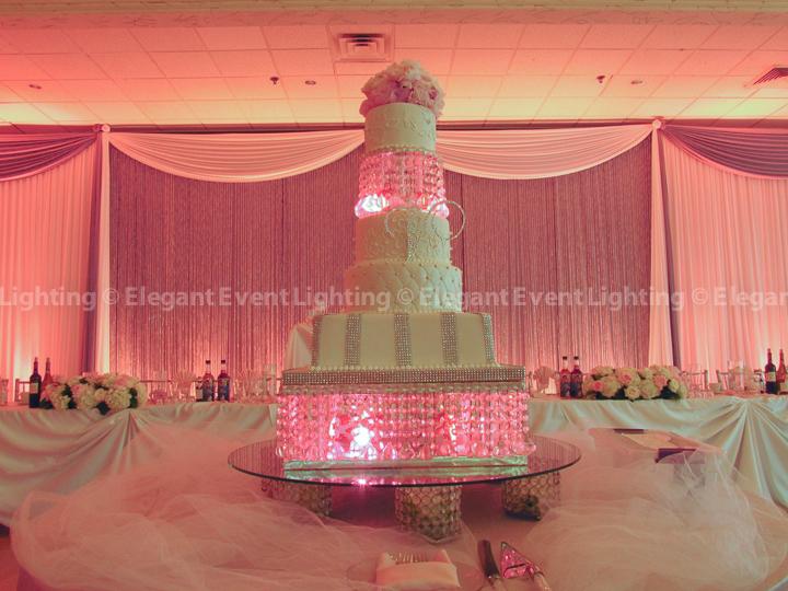 Pink Wedding Cake Lighting
