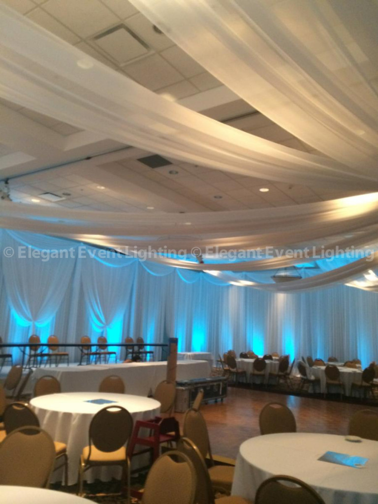 Ceiling Draping, Wall Draping & Uplighting | Elements Conference & Banquet Center