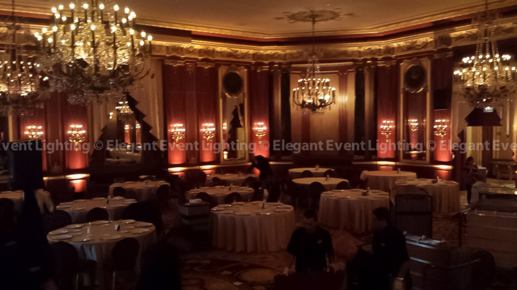 Palmer House Hilton | Red Lacquer Room Perimeter Uplighting