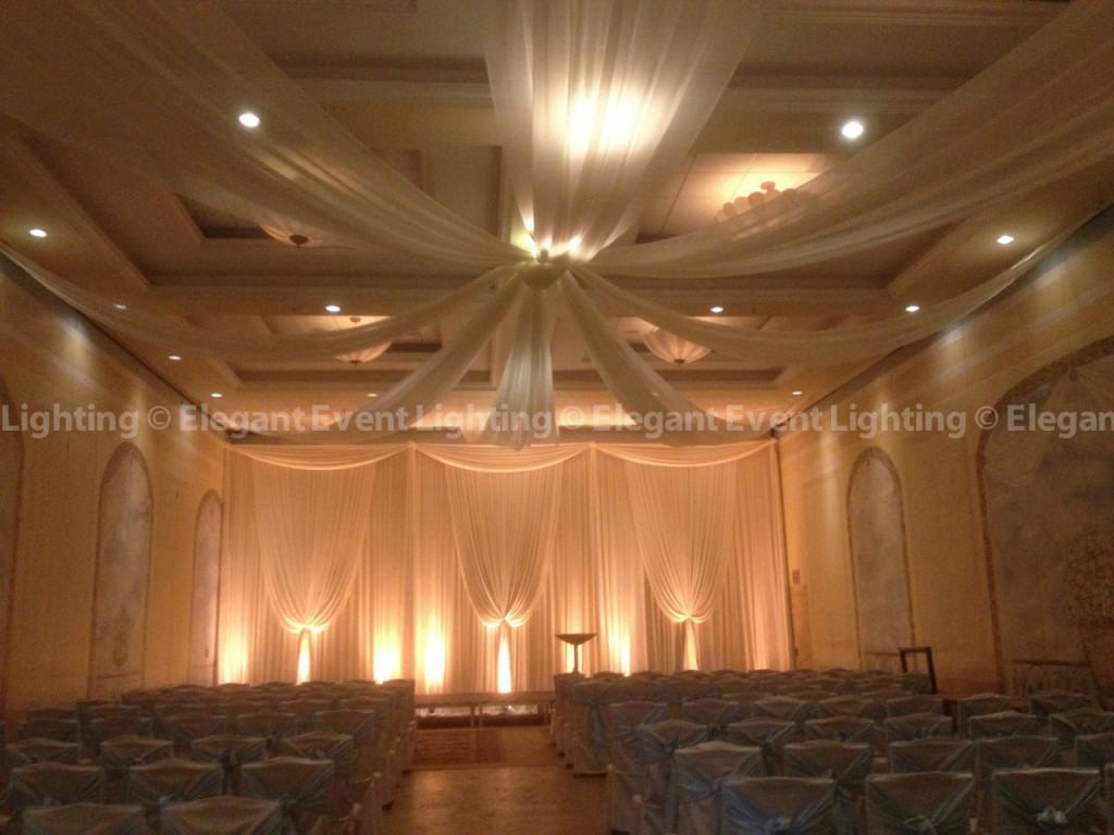 Venuti's Wedding Ceremony - Volare Ballroom Backdrop & Ceiling Draping