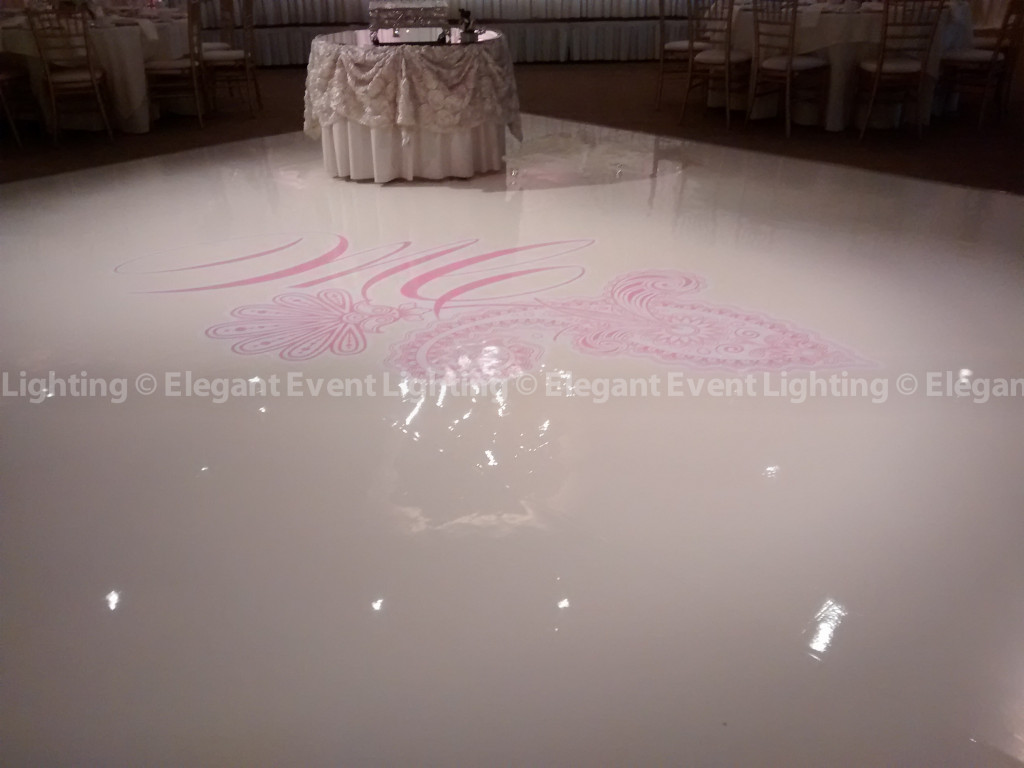 Ivory Dance Floor & Custom Monogram | Belvedere
