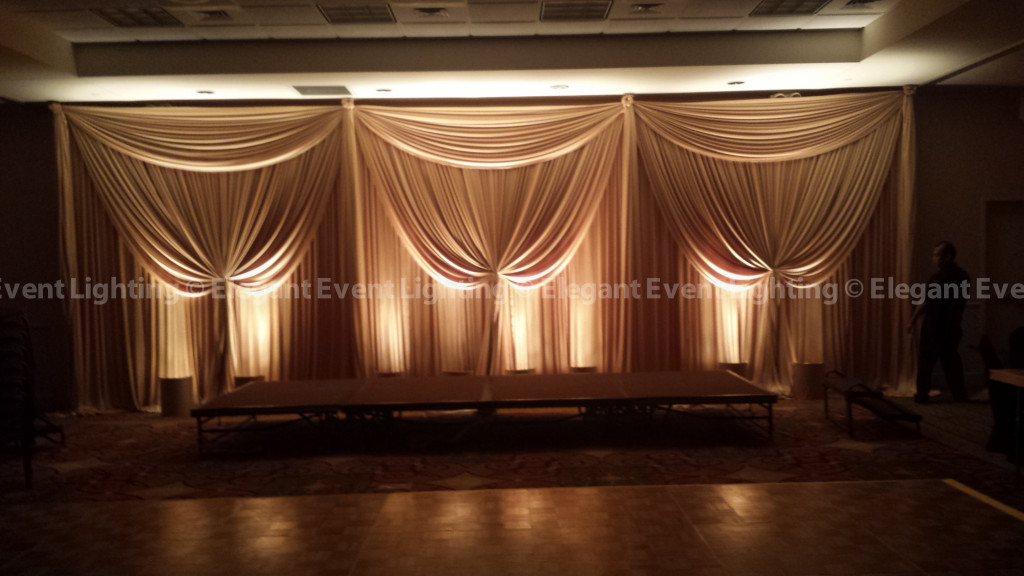 Hilton Garden Inn St. Charles | Gold Backdrop