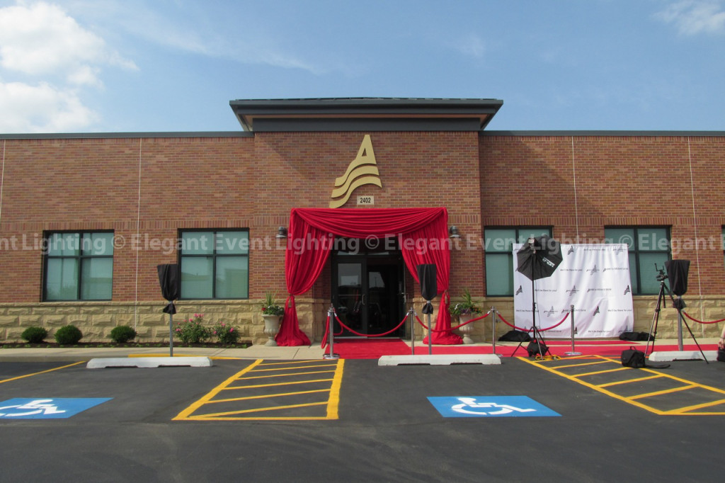 American Midwest Bank Grand Opening | Red Carpet & Drape Opening