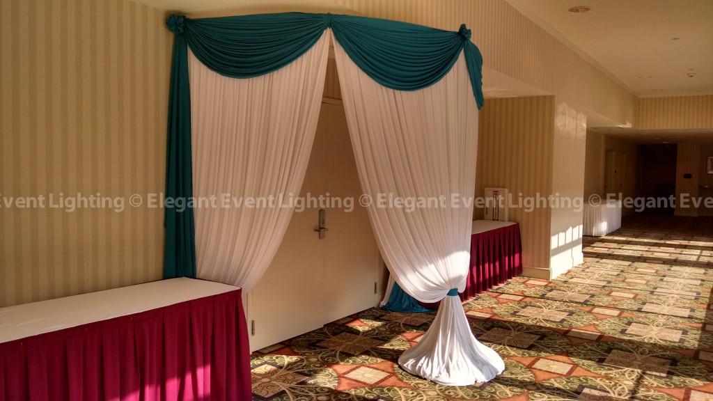 Entrance Draping | Hilton Garden Inn St. Charles