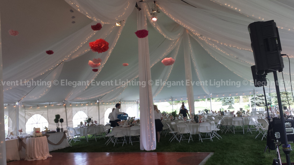 Dance Floor & Paper Lanterns | Farmstead Park