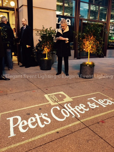 Warm Amber Uplighting | Peet's Coffee Grand Opening