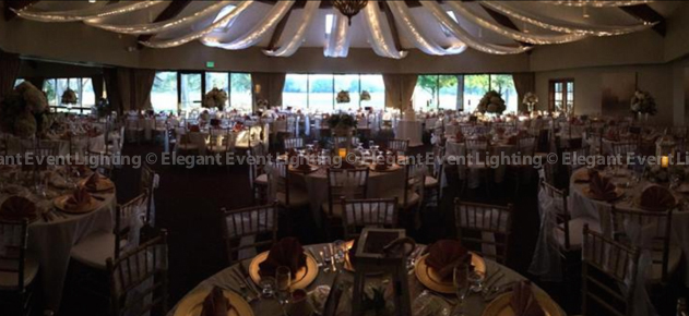 Starburst Ceiling Canopy with Fairy Lights | Briar Ridge Country Club