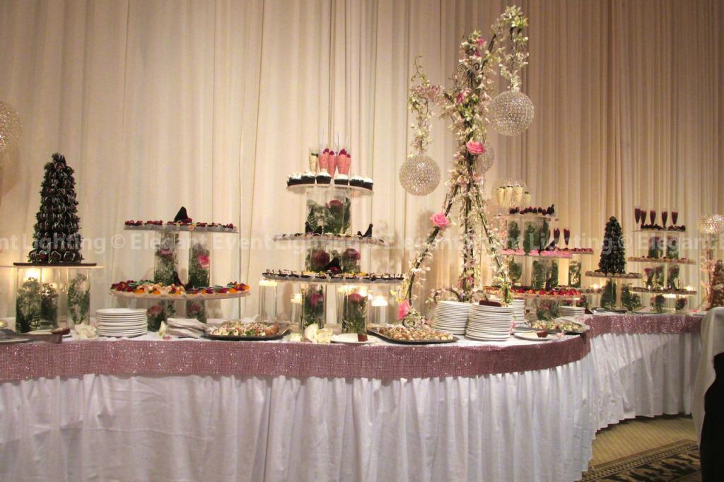 Sweet Table Draping & Downlighting | Venuti's