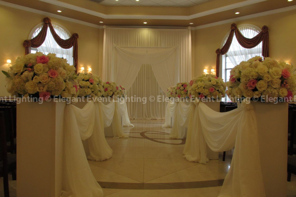 Ceremony Arch, Flower Pedestals & Draping | Venuti's