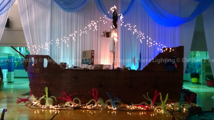 Wall Draping & Uplighting | St. Thomas More School Casino Night