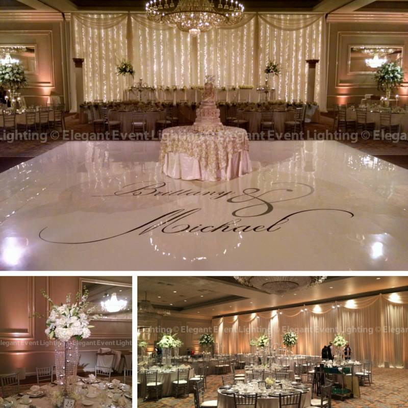 Brittany & Michael's Custom Wedding Lighting & Decor Design | Drury Lane