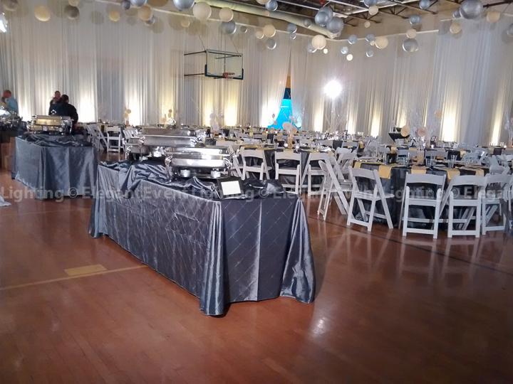 Buffet Table Downlighting | Hillel Torah North