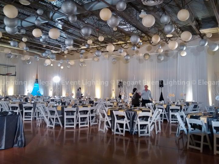 Paper Lanterns & Room Draping | Hillel Torah North
