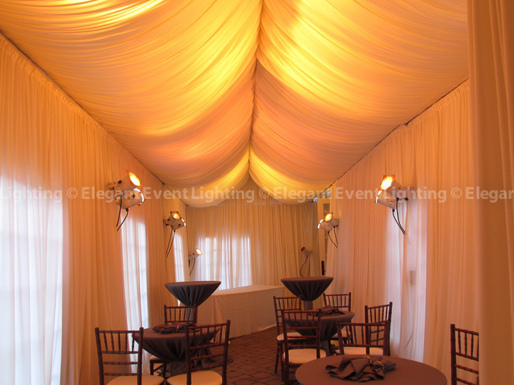 Tent Draping & Amber Ceiling Wash | Tent Wedding