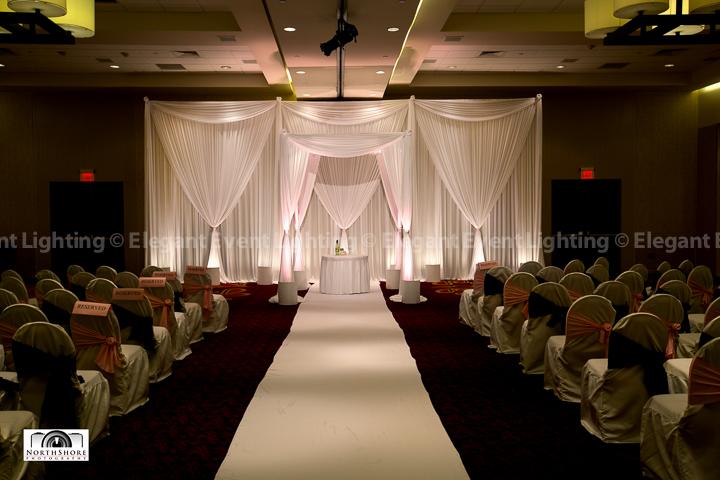 Ceremony Backdrop & Uplighting | Marriott Schaumburg