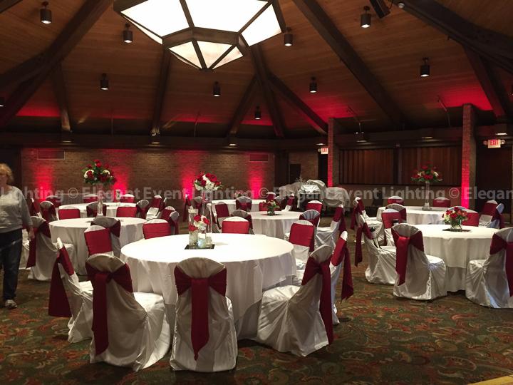 Red Perimeter Room Uplighting | Indian Lakes - Trillium Ballroom