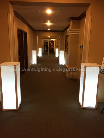 Lighted Flower Pedestals | Hilton Oak Brook Hills Resort