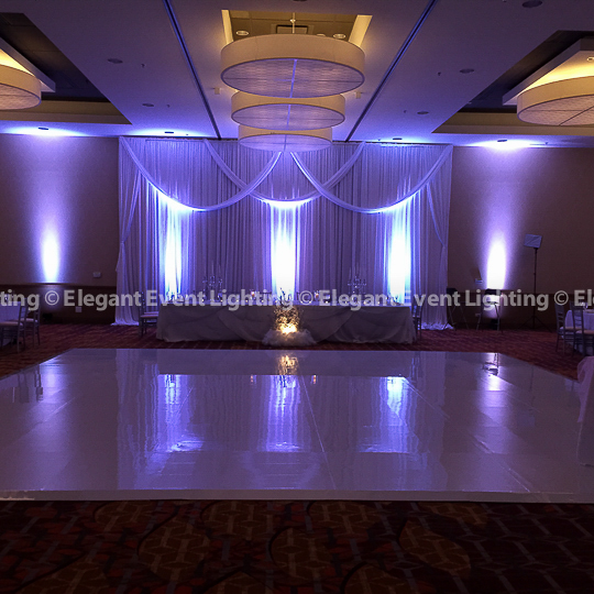 White Vinyl Wedding Dance Floor | Marriott Naperville