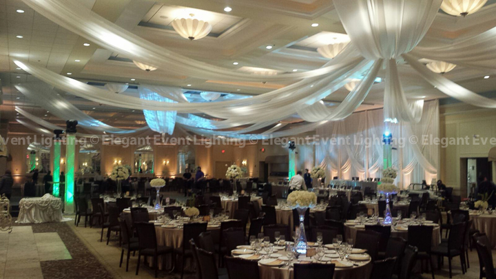Ceiling Draping, Backdrop & Uplighting | Venuti's - Grand Ballroom