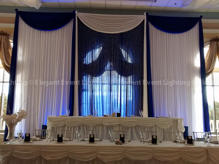 Head Table Crystal Curtain Backdrop | Venuti's - Venezia Ballroom