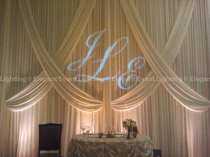 Head Table Backdrop & Custom Illuminated Monogram | Venuti's