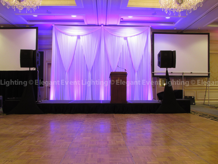 Drape Backdrop & Uplighting | Four Seasons Hotel