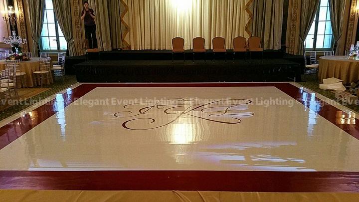 Custom White Dance Floor | Palmer House Hilton