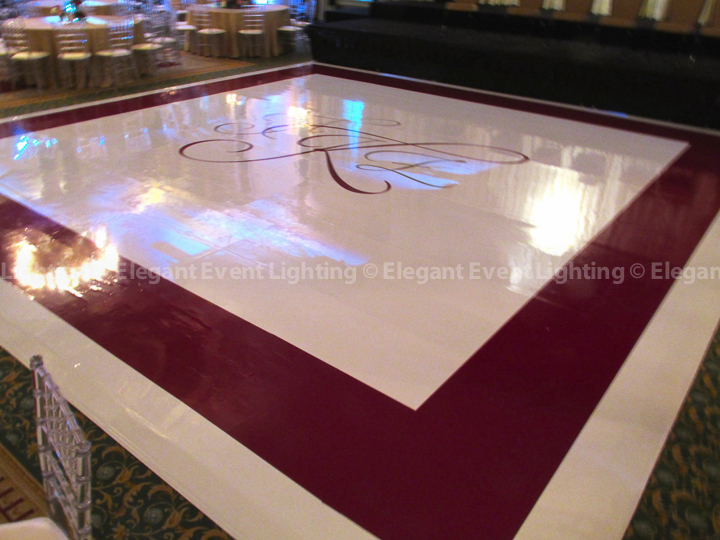Custom White Dance Floor | Palmer House Hilton
