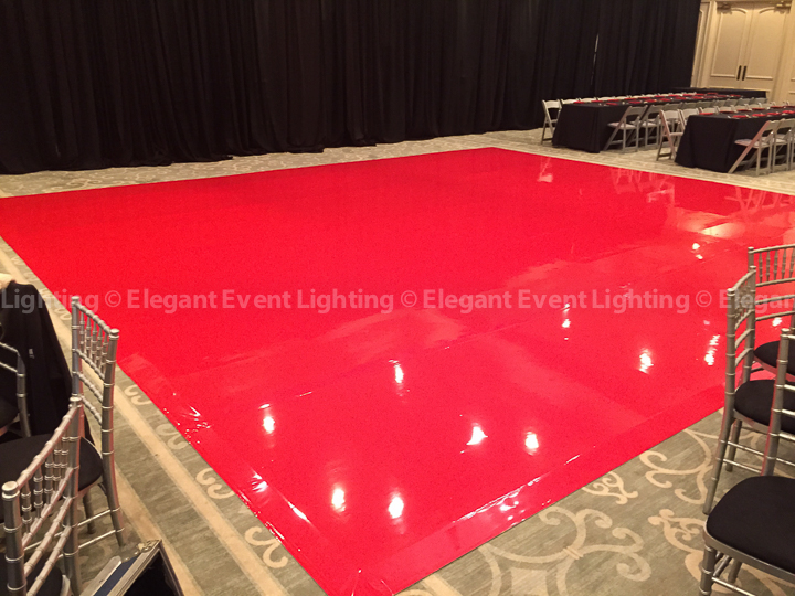 Red Dance Floor | Bryn Mawr Country Club