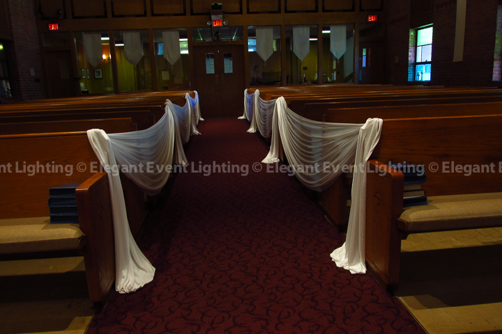 Ceremony Aisle Draping | Community Presbyterian Church Lombard