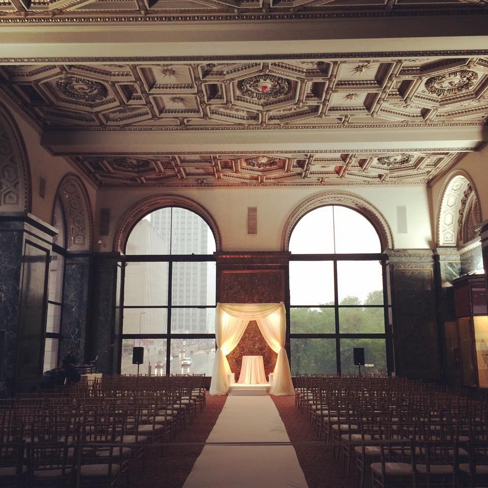 Ceremony Bridal Canopy | GAR Hall - Chicago Cultural Center